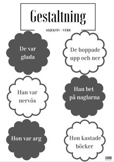 Gestaltning – Poster by Annika Sjödahl Learn Swedish, Swedish Language, Learning Support, Good Student, School Hacks, Writing Prompts, Back To School, Preschool, Classroom