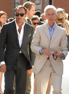 I really hate Tom Ford, there's no one wearing a suit better than he does.