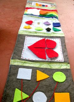 Quiet Roll Busy Play Mat Shapes by hillsroe on Etsy, $25.00
