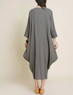 Women Loose Fitting long dress asymmetry Robe di MaLieb su Etsy