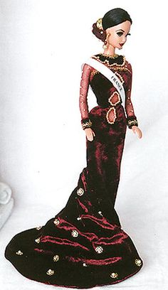 Miss France 1996 Barbie Miss, Barbie And Ken, Miss Monde, Evening Gowns Couture, Miss France, Exotic Beauties, Barbie World, Beauty Pageant, Reborn Dolls