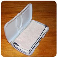 Cloth wipes - just in case I want to make some. Great way to practice using my serger