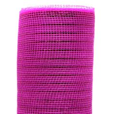 """Poly Mesh Fuchsia Metallic 21"""" x 10 yds Fuchsia/Fuchsia Metallic Stripe (can use for hot pink) Synthetic material, fabric like mesh netting roll. Visit our Blog page """"Instructional"""