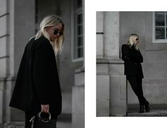 All black outfit, blazer, turtleneck, jeans, acne studios boots, street style, BYKROG, Cecilie Krog, blogger, monochrome, Minimal fashion