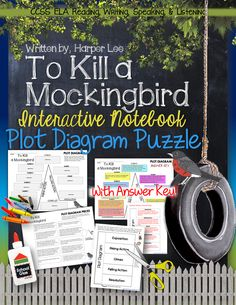 To Kill a Mockingbird, by Harper Lee: Interactive Notebook Plot Diagram Puzzle (FREE!)