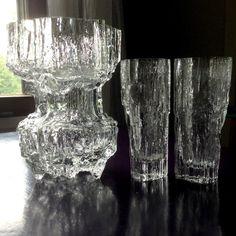 Tapio Wirkkala. Big Gerania & 2 Avena vases. Iittala. Mid-century Modern, Contemporary, Scandinavian Art, Art Object, Retro Design, Glass Design, Finland, Glass Art, Interior Decorating