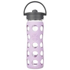 Life Factory® 22 oz. Glass Water Bottle with Straw Cap in Charcoal