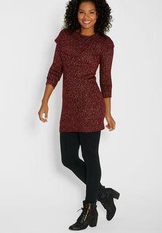 marled sweater dress