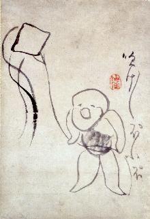 Kite Flying by Sengai gibon , a zen monk