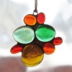 Stained Glass Fall Colors Sun Catcher Glass by paintedlightglass, $18.00