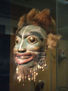 an army all wearing this mask...  Mask, Penn Museum