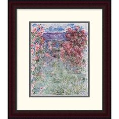Global Gallery 'The House in the Roses' by Claude Monet Framed Painting Print Size: