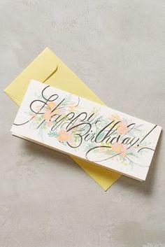 Anthropologie Happy Birthday Bouquet Card  #anthrofave #anthropologie