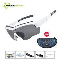 ROCKBROS Cycling Sunglasses 3Lens,Polarize MTB Glasses Goggles Eyewear for Bike/Bicycle/Moto Cicycle Sunglasses for Women Men 50