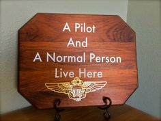Custom Aviation Sign-Wings of Gold A Pilot by SunflowerBlueDesigns| Aviation Gift| Pilot Gifts| Military Gifts