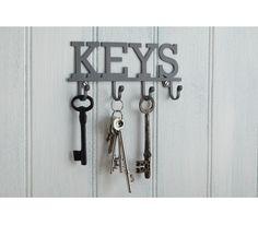 Kitchen Living Nostalgia - Wieszak na klucze z 4 haczykami Kitchen Craft dekoracje do domu