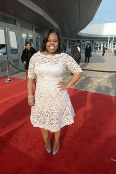 Amber Riley arrives at the 2014 Trumpet Awards