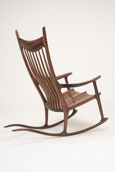 a rare and important cherry rocking chair by sam maloof be seated