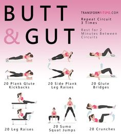 This abs fitness workout blast is designed to hit your butt and gut, helping you shape your booty and reveal your abs! Read the article for exercises!