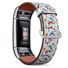 [ Compatible with Fitbit Charge 2 ] Replacement Leather Band Bracelet Strap Wristband Accessory // Texture Watercolor...