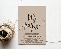 Elopement Party Invitation Elopement Party by AModernSoiree More reception invitations Elopement Party, Elopement Reception, Wedding Reception Invitations, Reception Party, Party Invitations, Invitation Templates, Wedding Wording, Invitation Text, Reception Ideas