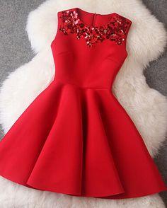 2017 New European Style Vestidos Summer Dress de festa Casual Slim Space Cotton Sequin Slim Thin Red Dress Women Dress Femininos Dress Vestidos, Mini Vestidos, Mini Skater Dress, Sequin Mini Dress, Skater Skirt, Cute Dresses, Short Dresses, Formal Dresses, Mini Dresses