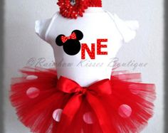Minnie Mouse first Birthday outfit Minnie by AriannasTuTuShop