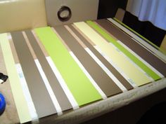 DIY backsplash. looking at this picture gave me the idea to paint plexiglas and hang it back side out on hooks or clamps or cute drawer knobs screwed into wall anchors so the plexiglas can be changed and or cleaned easier.