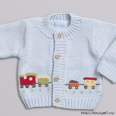 Discover thousands of images about sweaters - Applique Train SweaterRavelry: Project Gallery for garter yoke baby cardi pattern by Jennifer HoelThis Pin was discovered by JudCar Pullover pattern by Gail PExamples of knitting decoration art 29 Baby Cardigan Knitting Pattern, Baby Boy Knitting, Knitted Baby Cardigan, Knitted Baby Clothes, Hand Knitted Sweaters, Knitting For Kids, Baby Sweaters, Baby Knitting Patterns, Baby Patterns