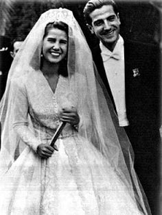 The Duchess of Alba and Pedro Luis Martinez de Irujo y Artacoz October 14, 1947  The duchess is the most titled woman in the world.