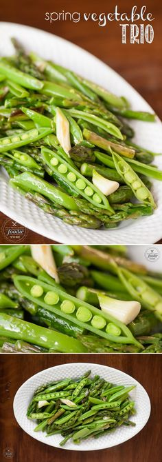 This Spring Vegetable Trio is a quick and delicious saute of fresh ...