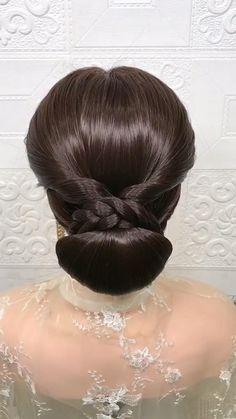 Hairdo For Long Hair, Bun Hairstyles For Long Hair, Braided Hairstyles Tutorials, Bride Hairstyles, Headband Hairstyles, Hairstyle Braid, School Hairstyles, Beautiful Hairstyles, Easy Hair