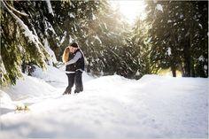 Winter Engagement Photos at Gold Creek Pond   Snoqualmie Pass Engagement Session   Seattle Wedding Photographers   www.saltandpinephoto.com   #snow #winter #engagement #engaged #photos #snoqualmiepass #seattle #cascades
