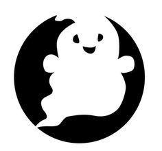 Cute Ghost Pumpkin Stencil | Halloween | Pinterest | Ghost pumpkin ...