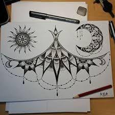 Bildergebnis für underboob tattoo mandala