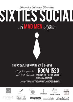 Thursday Therapy Chicago - Sixties Social–A Mad Men Affair