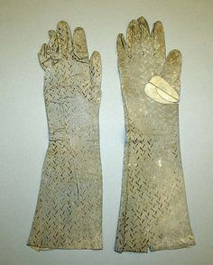 Late 18th–early 19th century, Italy - Leather gloves