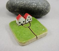 MyLand - From Now On - Collectible 3x3 cm or 1.2x1.2 in. puzzle in stoneware by elukka on Etsy https://www.etsy.com/listing/235051450/myland-from-now-on-collectible-3x3-cm-or