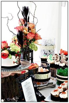 Hostess with the Mostess - Rustic Autumn Sweets Table