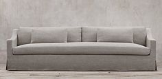 Restoration Hardware's Belgian Classic Slope Arm Slipcovered collection