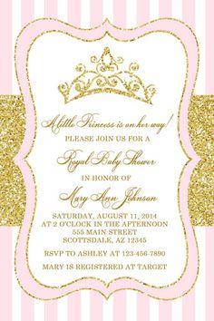 Princess Baby Shower Invitation Princess Tiara By Honeyprint