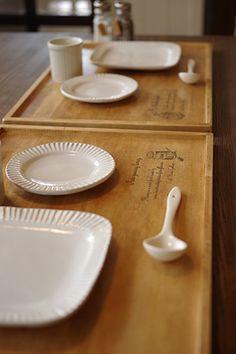 ナチュラルな木製ランチマット*キッチン用品*木製雑貨 商品詳細