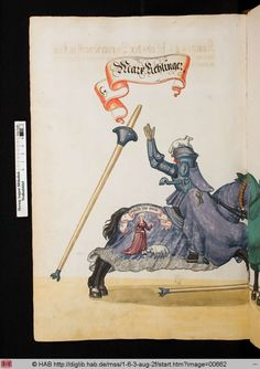from a 16C Turnierbuch compiled for Jeremias Schemel of Augsburg = Wolfenbuettel, HAB cod. guelf 1.6.3 Aug 2o -- via the HAB website.image 662