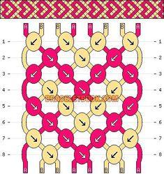Normal Pattern added by - Freundschaftsarmbänder - Friendship Diy Bracelets Easy, Thread Bracelets, Embroidery Bracelets, Bracelet Crafts, Macrame Bracelets, Bracelet Knots, Macrame Knots, Loom Bracelets, Micro Macrame