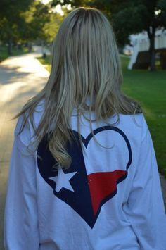 TX love on a long sleeve pocket tee!