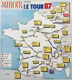 the 1987 tour de france owen mulholland s story of the 87 tour video Strasbourg, Saumur, Bike Poster, Vintage Cycles, Bicycle Race, Cycling Art, Classic Bikes, Group Tours, Keep Fit