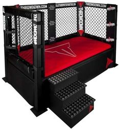 Decorating theme bedrooms - Maries Manor: theme beds - novelty furniture - woodworking bed plans - unique furniture - novelty furniture - th. Wwe Bedroom, Bedroom Themes, Kids Bedroom, Bedroom Decor, Loft Bedrooms, Bedroom Ideas, Bed Rooms, Chambre Wwe, Sports Bedding