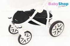 Kombikinderwagen Torino 3in1- geräumiger Einkaufskorb mit dem Reißverschluss #babyshopexpert #kombikinderwagen #torino #3in1