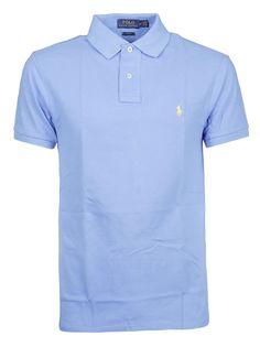 Ralph Lauren Chest Logo Polo Shirt In Harbor Island Blue Camisa Polo, Ralph Lauren Style, Polo Ralph Lauren, Ralph Laurent, Blue Chests, Mens Polo T Shirts, Nike Flex, Mars, Men Casual