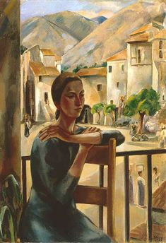 'Afternoon', 1924 - Maurice Sterne (1878–1957) Born in Latvia,  American sculptor & painter remembered today for his association w/ philanthropist Mabel Dodge Luhan, to whom he was married from 1916 to 1923. Wikipedia http://www.phillipscollection.org/research/american_art/artwork/Sterne-Afternoon+.htm